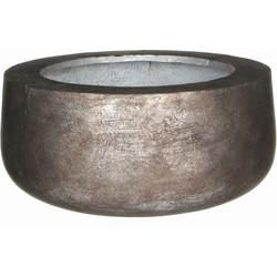 Mica Decorations schaal rond copa maat in cm: 17 x 38 zilver