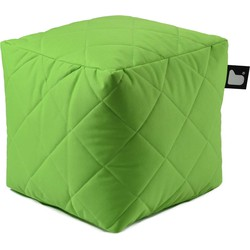 Extreme Lounging poef b-box Outdoor ruit - Limegroen