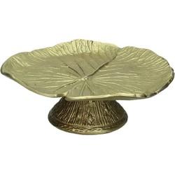 Kersten etagère Leaf goud 8x22x23cm