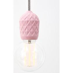 Hommage Department HD.107PK.SGY - Shades - Lamp met schakelaar - Ø6 x H8,5 cm - Roze