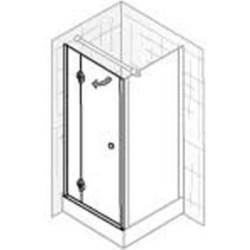 Ben Premium Classic Zijwand 80x200 cm aluminium / helder glas
