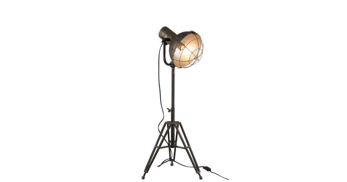 Industry - Vloerlamp - grijs - metaal - driepikkel - verstelbaar