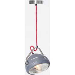 Het Lichtlab No.5 hanglamp koplamp grijs geschuurd