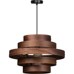 ETH hanglamp Walnut 5 rings