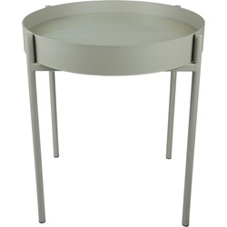 Home Delight salontafel kadro glas metaal khaki 45Ø