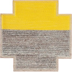 GAN rugs vloerkleed Mangas Plait Yellow Square - 260 x 260 cm