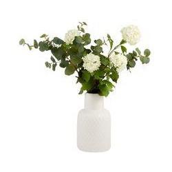 Junipa Eucalyptus & viburnum in ceramic vase