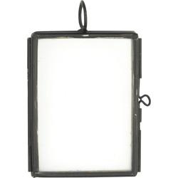 Madam Stoltz fotolijst mini metaal zwart 5 x 3,75