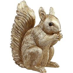 &k amsterdam Spaarpot Polyresin Goud 22,5 cm - Eekhoorn