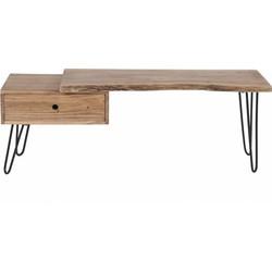 Tree Trunk - TV-meubel - massief acacia - naturel - 1 lade - smeedijzer onderstel