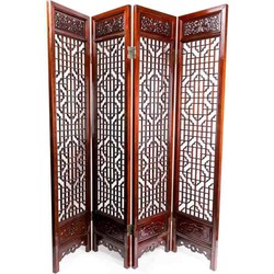 Fine Asianliving Fine Asianliving Antiek Chinees Kamerscherm Handgesneden 4 Panel