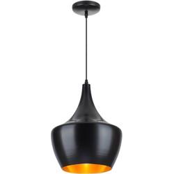 Linea Verdace Hanglamp Tipi Ø30 Cm Mat Zwart - Goud