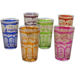 Moroccan tea glass 6 colors