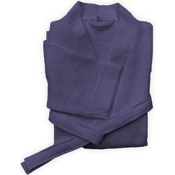 Badjas Wafel lang vintage purple - 100% Katoen
