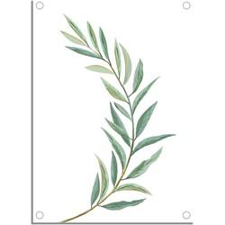 Tuinposter Eucalyptus blad met ringen - Tuindecoratie