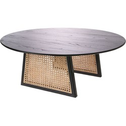 HKliving salontafel webbing met sungkai hout zwart large