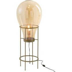 Balloon – Vloerlamp – Medium – glazen luchtballon – metalen staander – goudkleurig