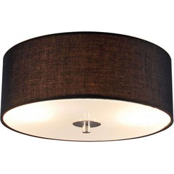 Ceiling lamp Drum 30 round black