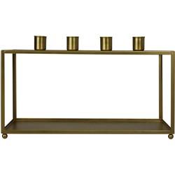 Gouden Kaarsenhouder 4 armen incl 5 witte kaarsen-31x16cm-Metaal-31x16 cm-Housevitamin