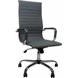 Design bureaustoel Mile hoge rug grijs