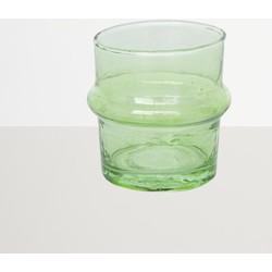Recycled Handmade Glass Tea Light Holder - Light Green