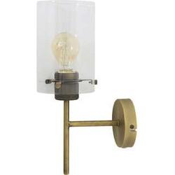 Wandlamp 22x12x35 cm VANCOUVER ant.brons-glas incl lamp