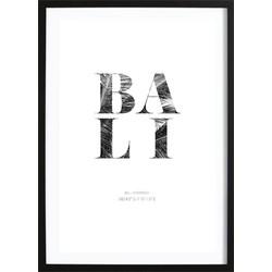 Bali Coördinaten Poster (50x70cm)