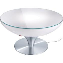 Moree - Ronde Salontafel Lounge - Hoogte 45 Cm Indoor - Wit