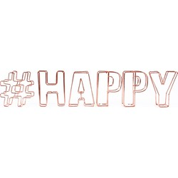 Dresz Decoratieve letters #Happy - Staaldraad - 44x9cm