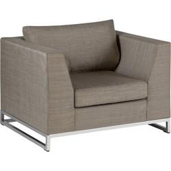 Exotan Ibiza lounge, lounge stoel - taupe texfabric