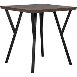 Eettafel donkerbruin 70 x 70 cm BRAVO