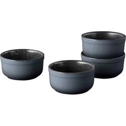 Ramekin set van 4 Laag , 9 cm - Zwart - BergHOFF   Gem