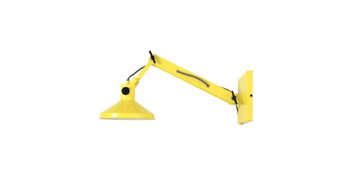 HK-living wandlamp geel, metaal