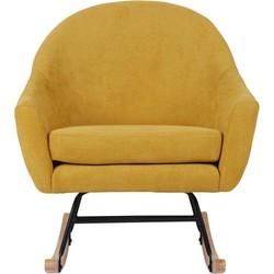 Schommelstoel Fallon - Oker geel suedine