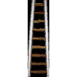 Decoratieve ladder Tangga - 195 cm - naturel/wit - teak
