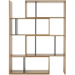 Kya uitschuifbare boekenkast, eiken en grijs