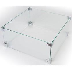 Happy Cocooning glazen ombouw tafel VK/RH 56x56xH26 cm