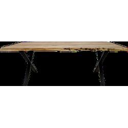 Eettafel SoHo - 175x90 cm - acacia/ijzer