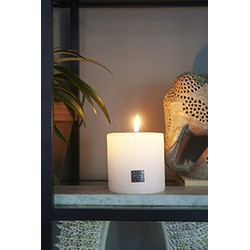 Rivièra Maison Rustic Candle frosted white 10x10 Kaars