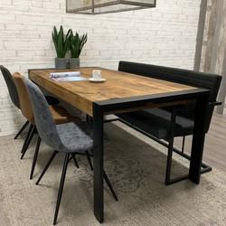Industriële tafel mangohout Colorado 180x90 cm