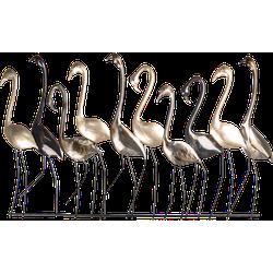 Clayre & Eef Wanddecoratie vogels 99x4x59 cm