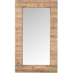 Nature - Spiegel - naturel - houten kader - 70x120cm