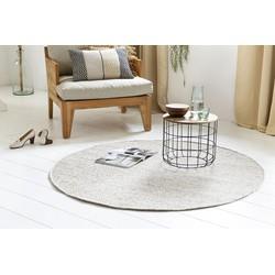 Handgemaakt Wollen Vloerkleed Rond - 150 cm - Zand - Lifa Living