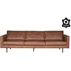 Rodeo bank 3-zits cognac - BePureHome - 85 x 277 x 86 cm