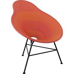 Pear vintage - Fauteuil - peer vormig - rood - plastiek - metalen frame