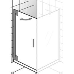 Ben Futura Draaideur 80x200cm Chroom/Helder glas