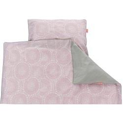 Little lof Tuck-Inn® dekbedovertrek 120x150 cm misty pink wit lichtgrijs