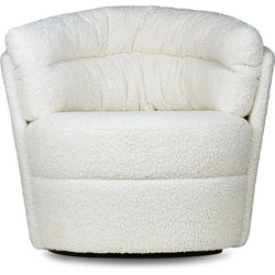 HKLiving Fauteuil Twister Cream 86 x 76 x 76