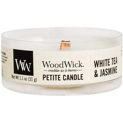 Woodwick White Tea & Jasmine Petite heartwick candle