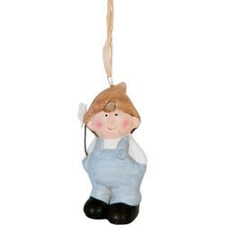 Clayre & Eef Decoratie jongen hangend 4x3x8 cm